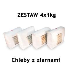 MIX Chleby z ziarnami 4 x 1 kg